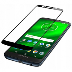 Motorola G6 Play hartowane szkło 5D Full Glue - Czarny