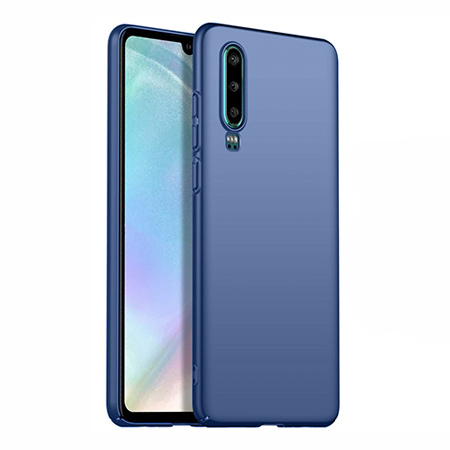 Etui na telefon Huawei P30 - Slim MattE - Granatowy.