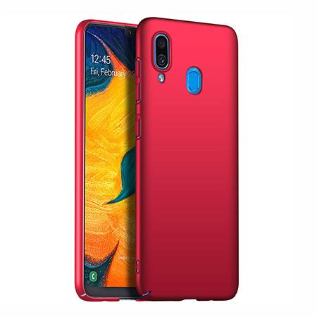 Etui na telefon Samsung Galaxy A20 - Slim MattE - Czerwony.
