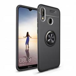 Etui na Huawei Y7 2019 - Pancerne Magnet Ring - Czarny.