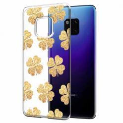 Etui na Huawei Mate 20 Pro - Złote koniczynki