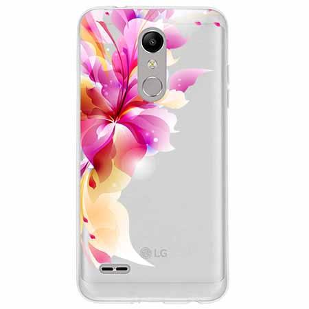 Etui na LG K10 2018 - Bajeczny kwiat.