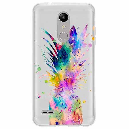 Etui na LG K10 2018 - Ananasowa eksplozja.