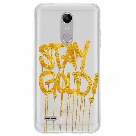 Etui na LG K10 2018 - Stay Gold.