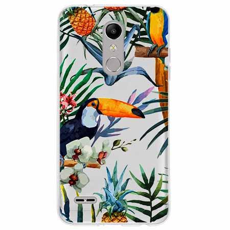 Etui na LG K10 2018 - Egzotyczne tukany.