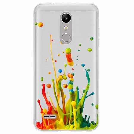 Etui na LG K10 2018 - Kolorowy splash.