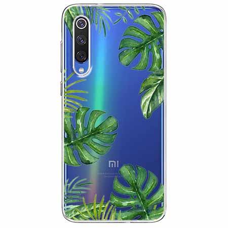 Etui na Xiaomi Mi 9 - Zielone liście palmowca