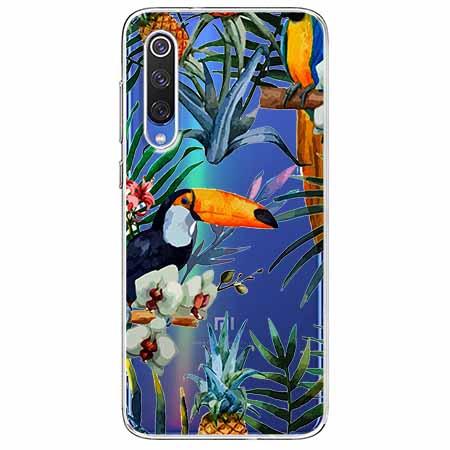 Etui na Xiaomi Mi 9 - Egzotyczne tukany.