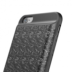 Etui na iPhone 6 / 6s Battery case Power bank 2500mAh - Czarny