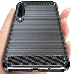 Etui na Galaxy A50 bumper Neo KARBON - Czarny.