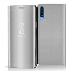 Etui na Samsung Galaxy A70 - Flip Clear View z klapką - Srebrny.