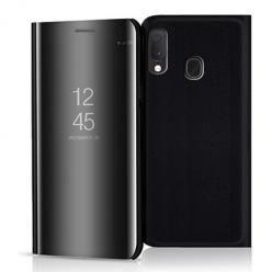 Etui na Samsung Galaxy A20e - Flip Clear View z klapką - Czarny.