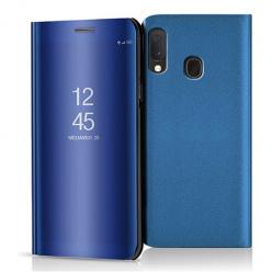 Etui na Samsung Galaxy A20e - Flip Clear View z klapką - Niebieski.