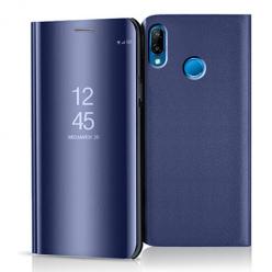 Etui na Huawei P20 Lite - Flip Clear View z klapką - Granatowy.