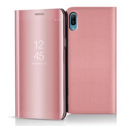 Etui na Huawei Y6 2019 - Flip Clear View z klapką - Różowy.
