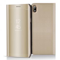 Etui na Huawei Y5 2019 - Flip Clear View z klapką - Złoty.