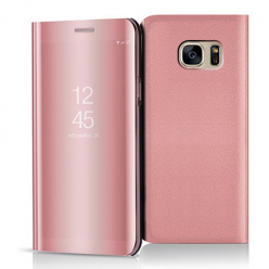 Etui na Samsung Galaxy S7 - Flip Clear View z klapką - Różowy