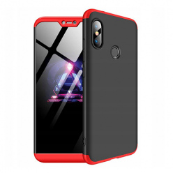 Etui na telefon Huawei P20 Lite - Slim MattE 360 - Czarno/Czerwony.