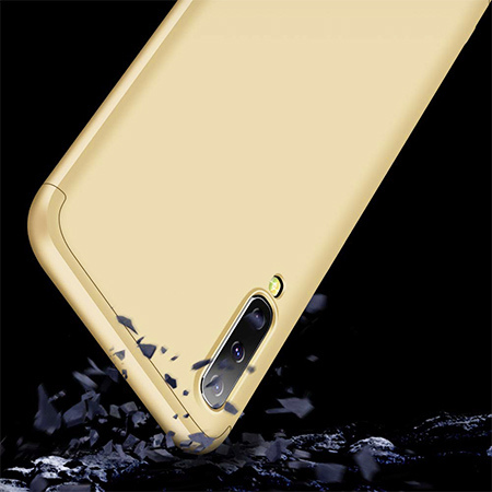 Etui na telefon Samsung Galaxy A50 - Slim MattE 360 - Złoty.