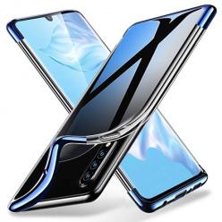 Etui na Huawei P30 Lite - platynowane SLIM - Niebieski
