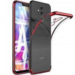 Etui na Huawei Mate 20 Lite - platynowane SLIM - Czerwony
