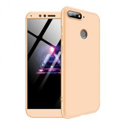 Etui na telefon Huawei Y6 2018 - Slim MattE 360 - Złoty.