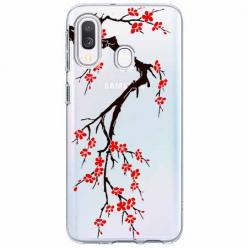 Etui na Samsung Galaxy A20e - Krzew kwitnącej wiśni.