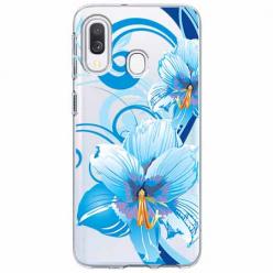 Etui na Samsung Galaxy A20e - Niebieski kwiat północy.