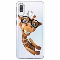 Etui na Samsung Galaxy A20e - Żyrafa w okularach.