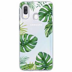 Etui na Samsung Galaxy A20e - Zielone liście palmowca