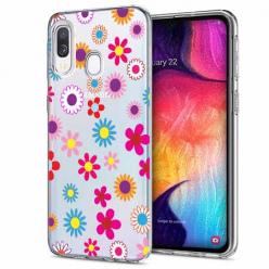 Etui na Samsung Galaxy A20e - Kolorowe stokrotki.