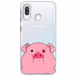 Etui na Samsung Galaxy A20e - Słodka różowa świnka.
