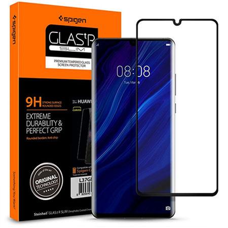 Huawei P30 Pro hartowane szkło Spigen Glass.TR - Czarny.