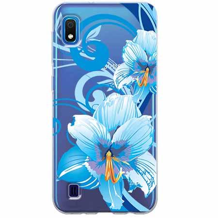 Etui na Samsung Galaxy A10 - Niebieski kwiat północy.
