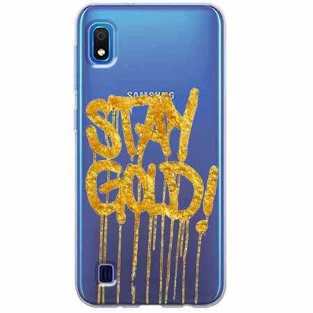 Etui na Samsung Galaxy A10 - Stay Gold.