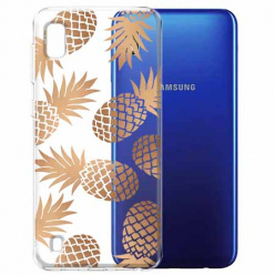 Etui na Samsung Galaxy A10 - Złote ananasy.