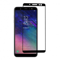 Samsung Galaxy A6 Plus 2018 hartowane szkło 5D Full Glue - Czarny.