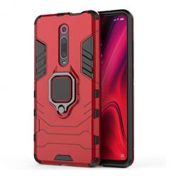 Etui na Xiaomi Mi 9T - Pancerne Magnet Ring - Czerwony.