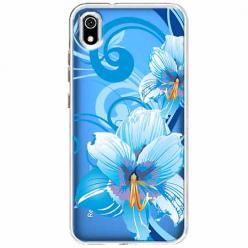 Etui na Xiaomi Redmi 7A - Niebieski kwiat północy.