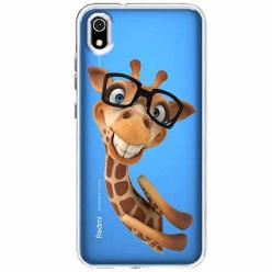 Etui na Xiaomi Redmi 7A - Wesoła żyrafa w okularach.