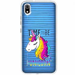 Etui na Xiaomi Redmi 7A - Time to be unicorn - Jednorożec.