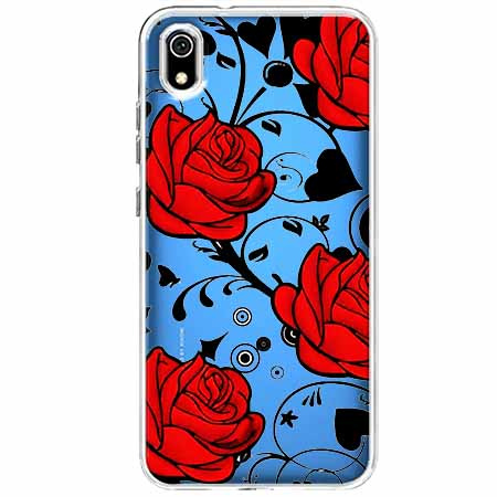 Etui na Xiaomi Redmi 7A - Czerwone róże.