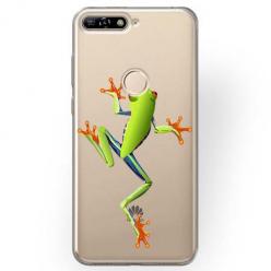 Etui na Huawei Y6 Prime 2018 - Zielona żabka.