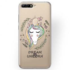 Etui na Huawei Y6 Prime 2018 - Dream unicorn - Jednorożec.