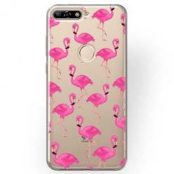 Etui na Huawei Y6 Prime 2018 - Różowe flamingi.