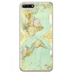 Etui na Huawei Y6 Prime 2018 - Mapa świata