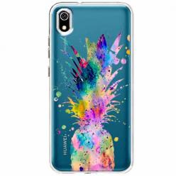 Etui na telefon Huawei Y5 2019 - Watercolor ananasowa eksplozja.