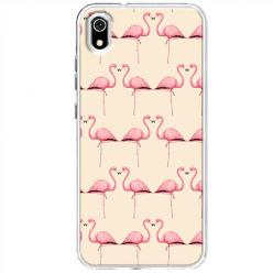 Etui na telefon Huawei Y5 2019 - Flamingi
