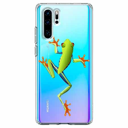Etui na telefon Huawei P30 Pro - Zielona żabka.