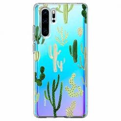 Etui na telefon Huawei P30 Pro - Kaktusowy ogród.